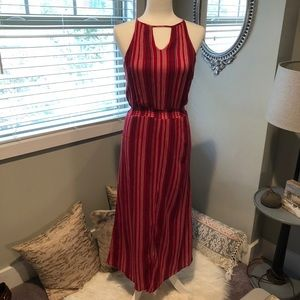 Universal Thread   Red Striped Maxi Dress